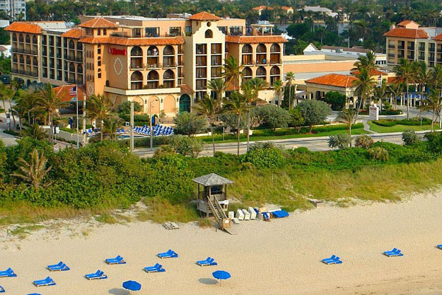Delray Beach Marriott hotel on the beach in Florida