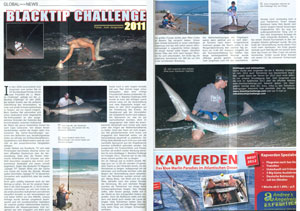 Global Angler Magazine article about the 2011 Blacktip Challenge