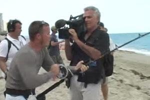 Screenshot from the SpiegelTV episode about the 2009 Blacktip Challenge
