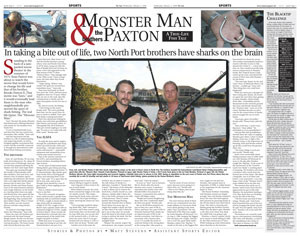 Blacktip Challenge in Sun Newspapers
